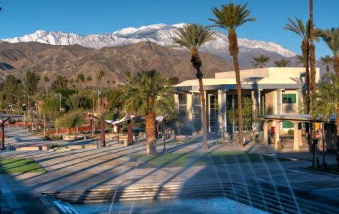 The Communication Building on the main Palm Desert campus.
