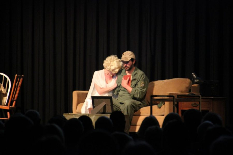 Actors Adam Meyers and Alison Janes preforming for valley locals on March 5, 2020.