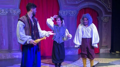 (left to right) Cameron Merrihew, Austin Berry and Aaron Ortega performing.