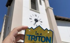 Photo courtesy of The Chaparral. I am a Triton sticker in from of the Coachella public library