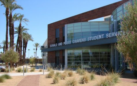 Photo courtesy of College of the Desert. College of the Desert student center at the Palm Desert campus.
