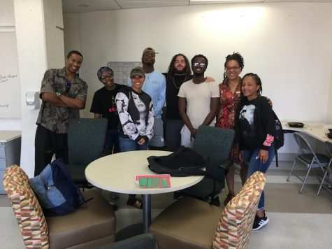 Photo courtesy of Professor Jermaine Cathcart. Cathcart (left) and some of the Black Student Success Center
