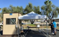 Screening tent at Desert Oasis.