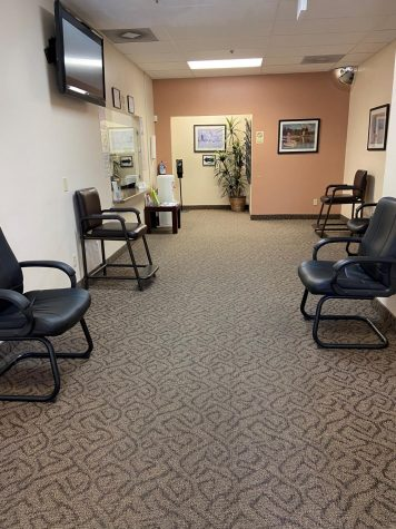 Photo courtesy of The Chaparral. The waiting room at Desert Oasis.