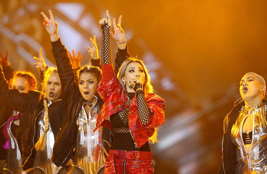 Singer CL of 2NE1 performs on the stage during the 2015 Mnet Asian Music Awards (MAMA) at AsiaWorld-Expo on Dec. 2, 2015 in Hong Kong, China.