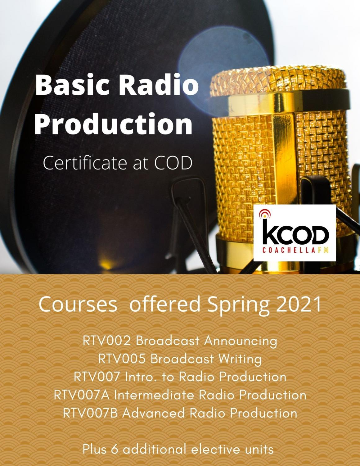 Radio Production Certificate Information