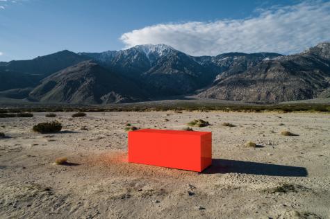 Artist Sterling Ruby's 2019 Desert X installation, 'Spector'