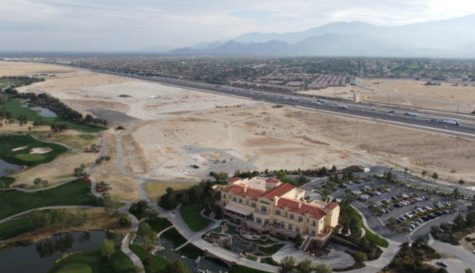 Photo courtesy of Getty Images. The site of the new $250 million Coachella Valley sports arena and soon to be home to minor league affiliate of the new Seattle Kraken NHL expansion franchise.