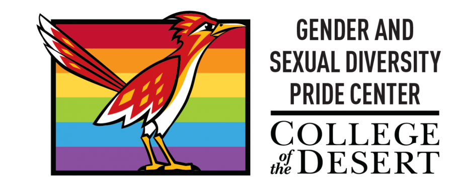 Photo courtesy of College of the Desert. Logo for the Gender and Sexual Diversity Pride Center on the main Palm Desert campus.