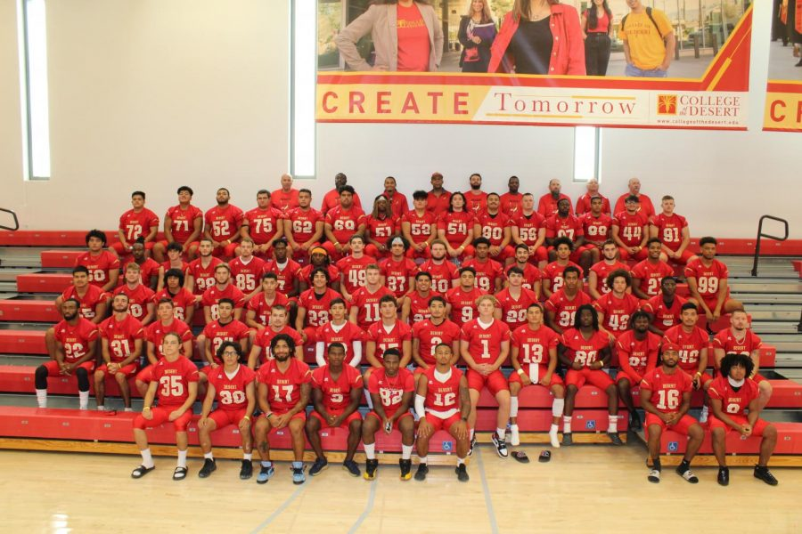 Photo courtesy of College of the Desert Athletics. 2021 COD Football Roster.