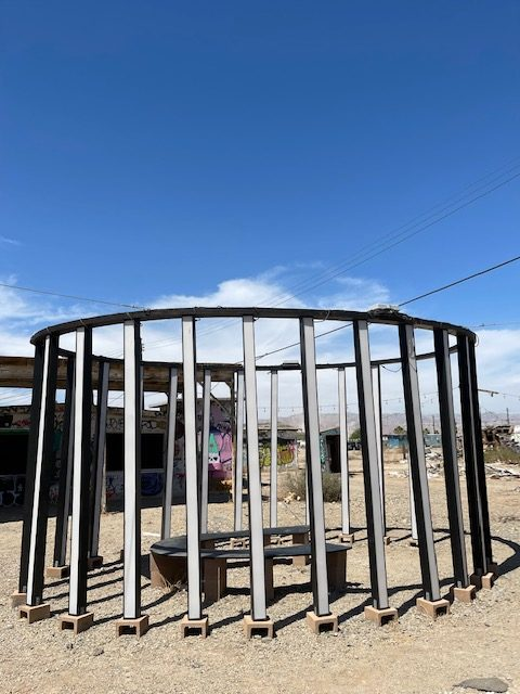 Photo courtesy of The Chaparral/Marcela Carrillo. Art installation at Bombay Beach